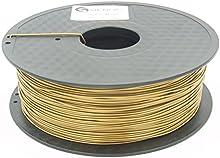 SIENOC 1 paquete de filamento impresora 3D PLA 1.75mm Impresora - Con 1 kg de carrete (Oro)