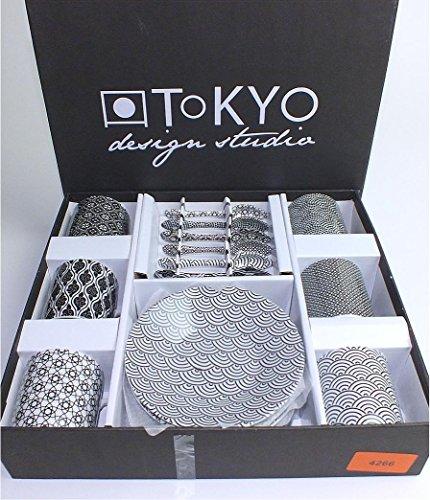 Tokyo design studio nippon black espresso set 18 teilig for Tisch japanisches design