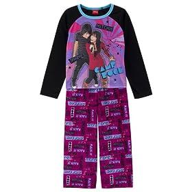 Girls' Camp Rock 2-pc. Pajama Set - Black/ Pink