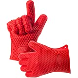AYL Silicone Heat Resistant Grilling BBQ Gloves for Cooking, Baking, Smoking & Potholder