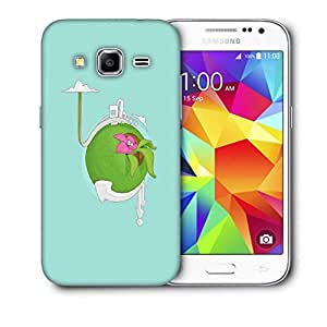 Snoogg Green Planet Printed Protective Phone Back Case Cover For Samsung Galaxy Core Plus G3500
