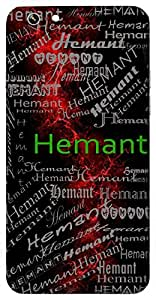 Hemant (One Of The 6 Seasons ( Part Of Winter) Name & Sign Printed All over customize & Personalized!! Protective back cover for your Smart Phone : Samsung Galaxy E5