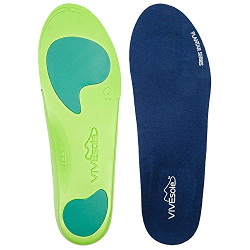 Orthotics by VIVEsole - Plantar Series - Insoles with Arch Support, Heel and Forefoot Cushions for Plantar Fasciitis - Full Length - 120 Day Guarantee (Small) (Orthotic Inserts Superfeet compare prices)