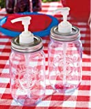 Mason Jar Condiment Dispensers - Set of 2