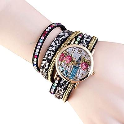 Willtoo(TM) Bling Rhinestone Strap Analog Ladies Quartz Bracelet Wrist Watch
