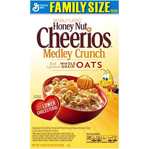 Honey Nut Cheerios Medley Crunch Cereal Box, 22.5 oz