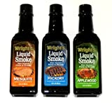 WRIGHTS All Natural Liquid Smoke 3 PC Variety Pack - 3.5 Oz