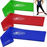 Aylio 3 Loop Bands for Exercise (Light, Medium, Heavy)