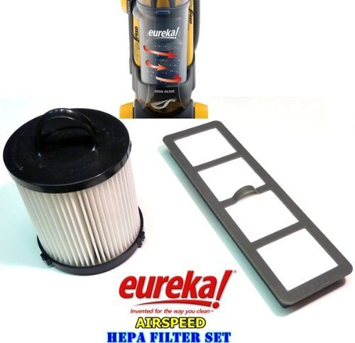 Eureka AirSpeed Bagless Upright HEPA Filter Replacement Set. (Eureka Hepa Vacuum Filter Dcf21 compare prices)