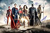 Justice League reprint cast signed autographed 12x18 movie poster photo Wonder Woman Batman