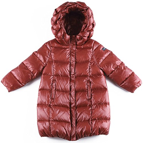 Oceankids Baby Mädchen Rot Knielange Daunenjacke / Mantel mit Reißverschluss 5-6 Jahre