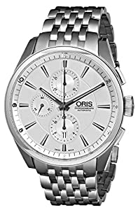 Oris Men's 01 674 7644 4051 07 8 22 80 Chonograph Silver Dial Watch