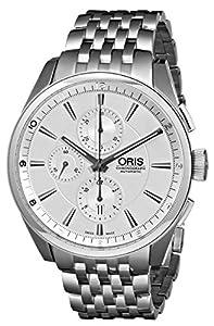 Oris Men's 01 674 7644 4051 07 8 22 80 Chonograph Silver Dial Watch