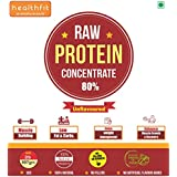 Raw Whey Protein Concentrate 80 % - 2lbs , Unflavored ( Made In USA - By Saputo )