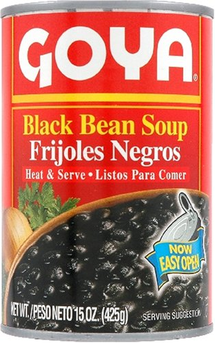 how to cook goya black beans from a can