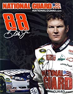 AUTOGRAPHED 2011 Dale Earnhardt Jr. #88 National Guard Racing NASCAR Hero Card