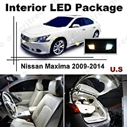 See Ameritree Xenon White LED Lights Interior Package + White LED License Plate Kit for Nissan Maxima 2009-2014 (15 Pcs) Details