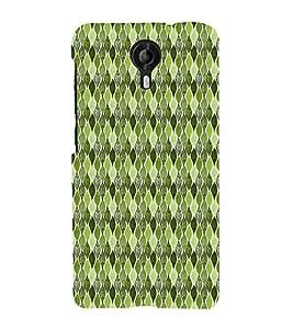 Green Leafs Autumn Cute Fashion 3D Hard Polycarbonate Designer Back Case Cover for Micromax CanvasNitro4G E371