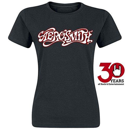 Aerosmith Swirl Logo Maglia donna nero L