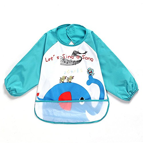 oral-q-impermeable-a-manches-longues-art-smock-tablier-peinture-pour-enfants-kids-nitrure-noir-bleu-