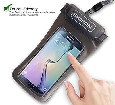 Cell Phone Waterproof Case 4.8 inch Smart Phone Arm Band, Neck Strap, Small Digital Camera Case For Outdoor, Swimming, Beach, Hiking, Camping, Skiing
