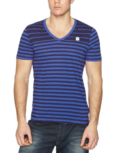 G-Star CL Division Deep Short Sleeve Plain Men's T-Shirt Radar Blue Large