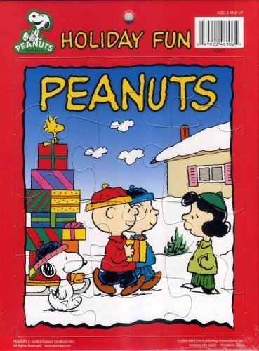 Peanuts Holiday Fun Winter Scene Frame Tray Puzzle - 1