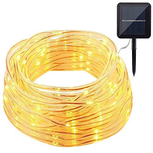 GDEALER Solar Rope Lights 33ft 100 LED IP65 Waterproof Copper - Import It All