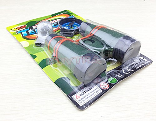 Binoculars With Compass And Whistle Children Toys Multifunction Camouflage