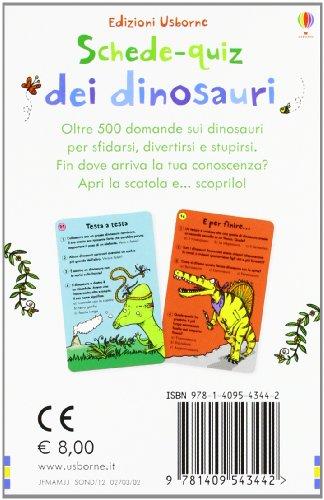 Schede-quiz dei dinosauri
