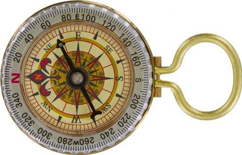 SE CC50B Glow-in-the-Dark Brass Compass