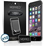 "12 x New Apple iPhone 6 Plus / iPhone 6S Plus (5.5"" Screen Display) - Screen Protectors Retail Packed with Cleaning Cloth and Application Card (12 in Pack)"