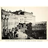 1905 Print Palazzo Caffarelli Clementino Temple Jupiter Capitolinus Rome Terrace - Original Halftone Print