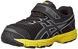 ASICS GT 1000 4 TS Running Shoe (Toddler/Big Kid), Black/Onyx/Flash Yellow, 6 M US Big Kid