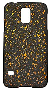 Zeztee ZT5866 Multicolor Soft feel plastic back cover with designer spot pattern (glows in dark after light absorption) designed for Mobile Samsung S5 (9600)