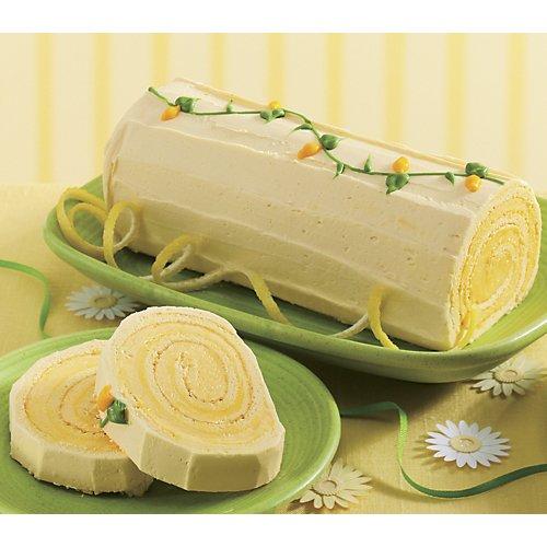 Lemon Log Rolled Sponge Cake