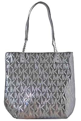 Michael Kors Mirror Metallic Jet Set Ns Chain Tote Handbag