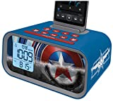 EKids MC-M23 Avengers Initiative Dual Alarm Clock Speaker System