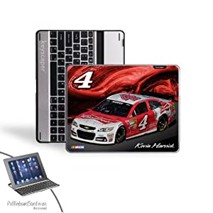 NASCAR Kevin Harvick 4 Budweiser iPad 2 3 Bluetooth Keyboard Case by Keyscaper