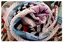 Grace Scarves, Dots & Dresses, Oblong Georgette Silk Scarf, Pink