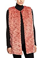 Tom Tailor Denim Chaleco Weste fake fur vest/510 (Rosa / Rojo)