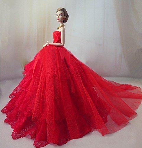 Lanlan Luxury Trailing Dress Wedding Evening Party Ball Dress For