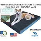 Large Luxury Memory Foam Orthopedic Dog Bed - Large 46 x 4 Deluxe Gel Memory Foam 4 lb USA Made)