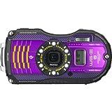 PENTAX 防水デジタルカメラ PENTAX WG-3GPS パープル 1cmマクロ マクロスタンド付属 電子コンパス サブLCD Qi規格 PENTAX WG-3GPSPU