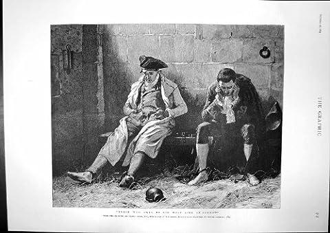 水泳の罪の流しの悲哀の刑務所の危機コンスタンチノープルの旧式な印刷物は 1895 を傷つけました