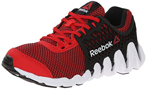 Reebok Zigtech Big N Fast EX Running Shoe (Little Kid/Big Kid), Red Rush/Black/White, 3 M US Little Kid (Zigtech Shoes compare prices)
