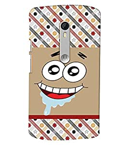 PrintVisa Cute Cartoon Patter Smiley 3D Hard Polycarbonate Designer Back Case Cover for Motorola Moto X Style