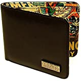 "Marvel Comics Retro Collection Black Bi-Fold Adult/Kids Wallet (Size: 4.5"" X 3.75"") (with Gift Box)"