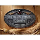 Design Toscano CL6082 Witch Parking Sign Wall Sculpture, Multicolored