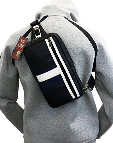 [ビップライン]VIP LINEボディバッグ メンズ レディース スポーツ 斜めがけ バッグ PVブランド 着たまま荷物前面で取出し可能 街歩き 旅行 ワンショルダー VL-0989 (Bタイプ)
